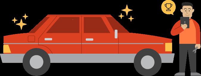 A fixed car