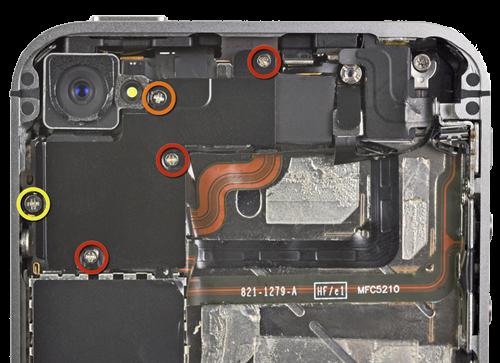 iPhone screw diagram