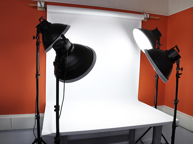 A professional lighting setup.